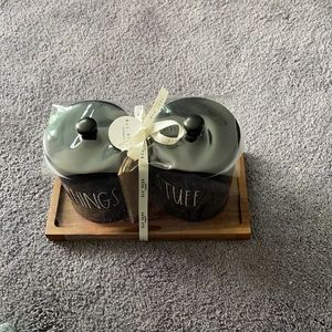 Rae Dunn Things And Stuff Container Set  NWT